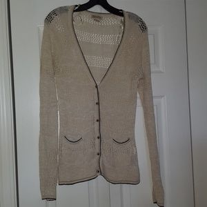 Lucky Brand cardigan, lightweight cotton knit
